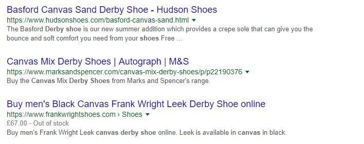 shoes -ecommerce search engine optimization