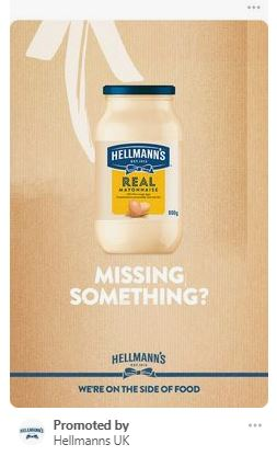 Pinterst for ecommerce - hellmans ad